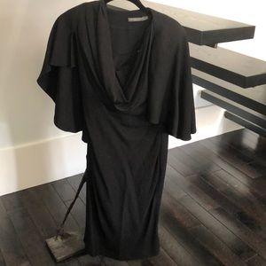 Black Alexander McQueen dropped top dress
